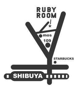 Ruby Map B&W